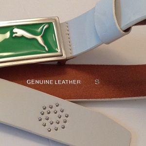 Puma Accessories - 🍃🌹PUMA - Silver Studded 'Genuine Leather' Belt🍃